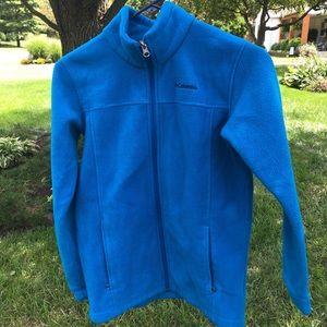 Girls Blue Columbia Fleece Jacket